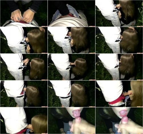 Cutie Sucked Off In The Bushes And Swallowed The Sperm [FullHD 1080P]